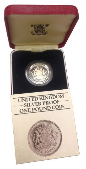 1983 Silver Proof One Pound Coin NO COA